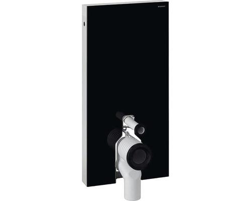 Bâti-support GEBERIT Monolith pour WC à poser 101 cm avec coude de raccordement P raccordement d''eau latéral noir 131.003.SJ.5
