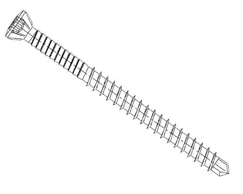 Vis 5,5x50 mm acier inoxydable 100 pièces pour série de clôture Osmo Forsdal