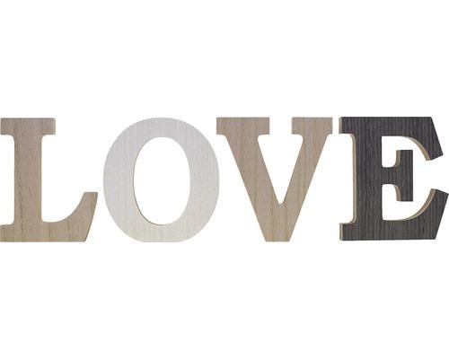 Écriture Love multicolore 34x10 cm