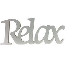 Inscription Relax blanc 25x10 cm-thumb-0