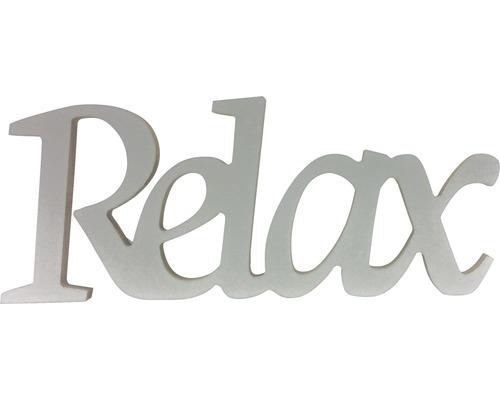 Inscription Relax blanc 25x10 cm-0