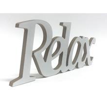 Inscription Relax blanc 25x10 cm-thumb-1