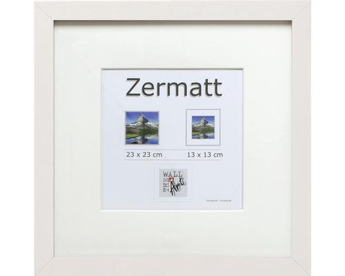 Cadre à objets Zermatt blanc 23x23 cm