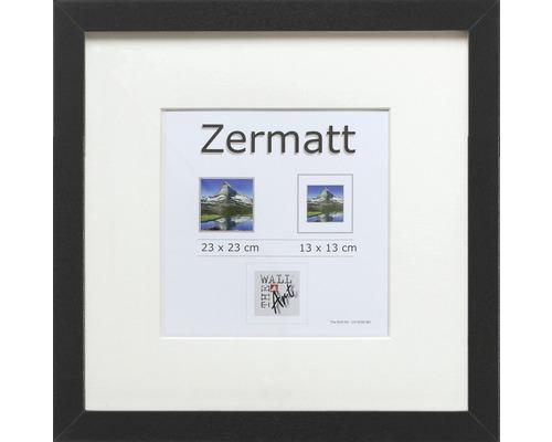 Cadre à objets Zermatt noir 23x23 cm