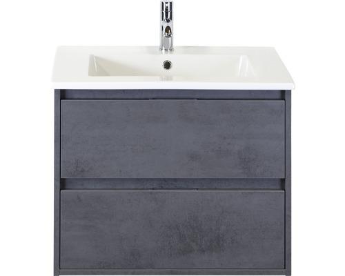 Ensemble de meubles de salle de bains Porto 70cm avec vasque en céramique béton anthracite