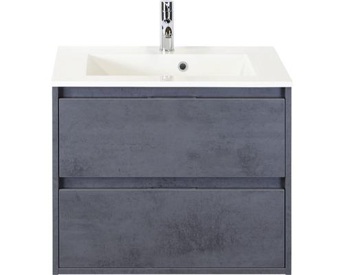 Ensemble de meubles de salle de bains Porto 70cm avec vasque béton anthracite