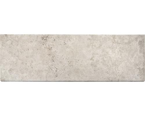 Bordure de piscine margelle Flairstone Roma élément droit beige 1 côté long arrondi 115 x 37 x 3 cm