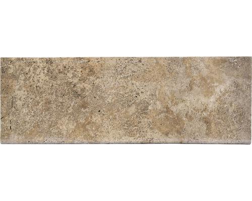 Bordure de piscine margelle Flairstone Livorno élément droit marron 1 côté long arrondi 115 x 37 x 3 cm