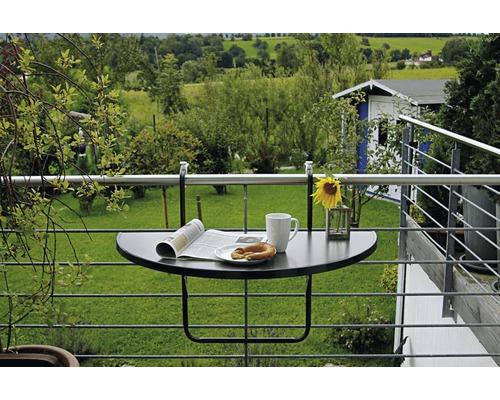 Table de balcon suspendue Best Butler 50x100 H8cm anthracite