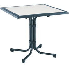 Table de jardin Best Boulevard 80x80 H72cm bleu-thumb-0
