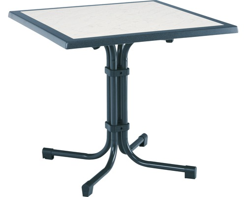 Table de jardin Best Boulevard 80x80 H72cm bleu-0