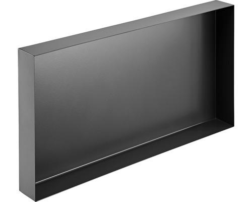 Badablage Design Box Wandeinbau 30x30 cm schwarz
