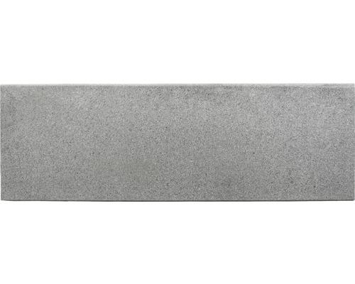 Flairstone Poolumrandung Beckenrandstein Phönix Element gerade grau 1 Längsseite gerundet 115 x 35 x 3 cm