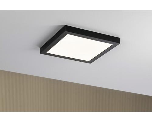 Plafonnier LED 22W 2200 lm 2700 K blanc chaud round hxlxL 30x300x300 mm Abia noir 1ampoule