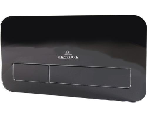 Plaque de commande Villeroy & Boch ViConnect L200 verre noir 921843RB avec éclairage LED