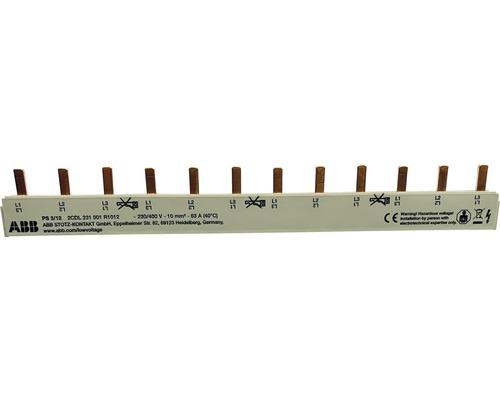 Rails de phase à broches ABB PS 3/12 3 pôles pour série S261 + S201
