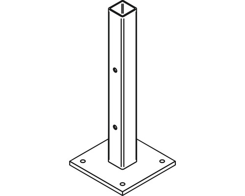 Ancrage pour poteaux pour poteaux en aluminium 9x9cm à visser