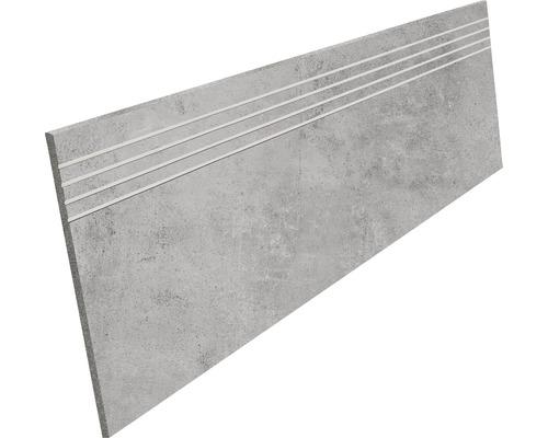 Marche en grès cérame fin Hometec grey lap. 30x120cm