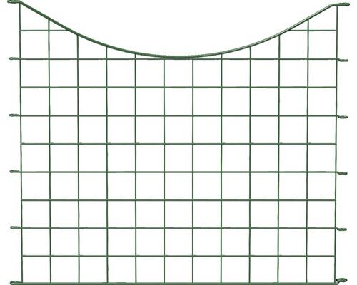 Panneau de clôture enfichable, arceau en bas 77,3x66.5cm, vert
