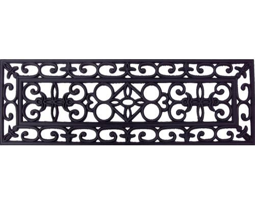 Marchette d''escalier en caoutchouc effet acier 25x75 cm
