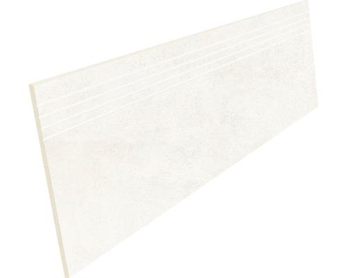 Marche en grès cérame fin Hometec Ivory mat 30x120cm
