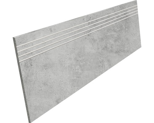Marche en grès cérame fin HOMEtek grey mat 30 x 120 cm
