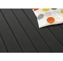 Konsta WPC Terrassendiele Bodendiele Basic anthrazit mattiert genutet/geriffelt 20x145x2500 mm-thumb-1