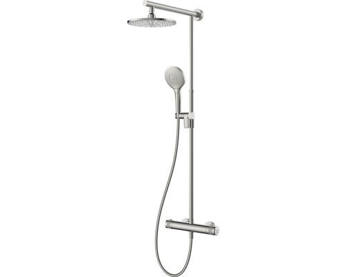 Colonne de douche avec thermostat AVITAL Tidan aspect acier inoxydable