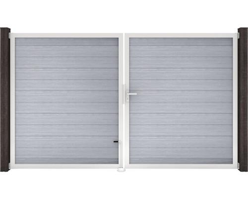 Portail à deux vantaux GroJa Flex 300x180cm, gris