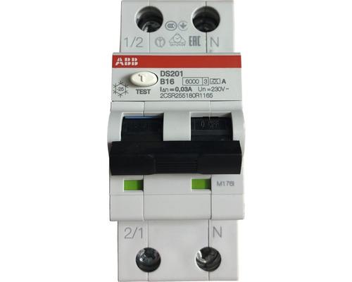 Disjoncteur ABB FI/LS DS201A-B16/0,03