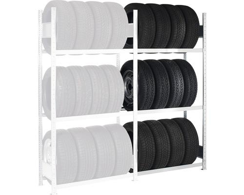 Étagère à pneus Schulte étagère d''extension zinguée 2000x1500x400mm 3 niveaux capacité de charge 450kg