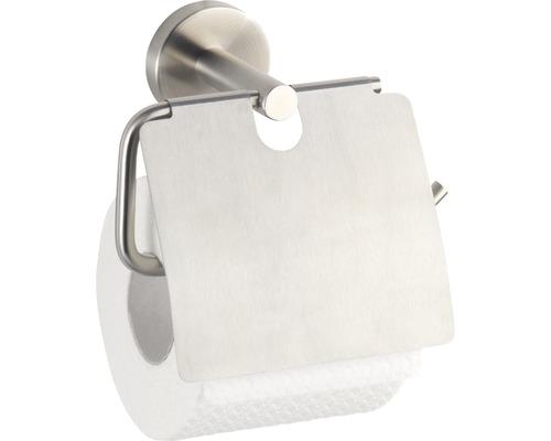 Dérouleur papier toilette avec couvercle Bosio acier inoxydable mat