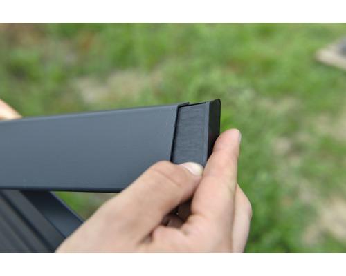 Endkappe rechts für Alu-Cladding Osmo Rhombus Profil