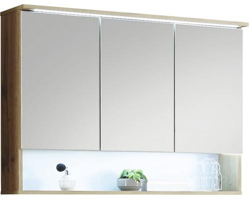 Spiegelschrank Best 3 türig 99x70 cm Eiche natur