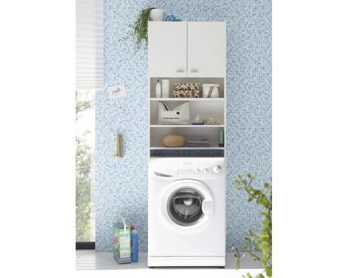 Meuble WC ou machine à laver blanc 65x195 cm
