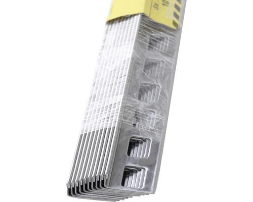 Arrêt de bord pour carrelage domaine professionnel Dural Durosol 8 mm acier inoxydable 300 cm lot de 10