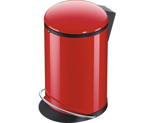 Poubelle à pédale Hailo Harmony M 12 l 0515-040 rouge