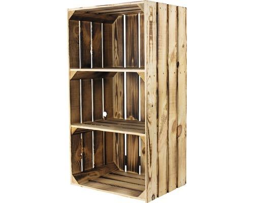 Armoire en bois vintage avec 2 étagères moirée 68x30x40 cm