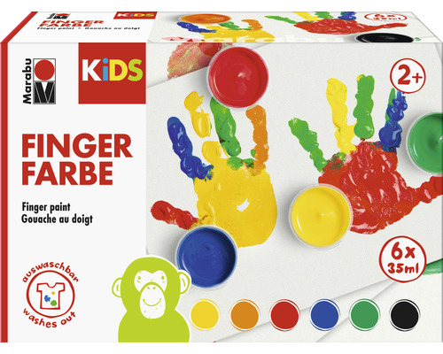Peinture aux doigts Marabu KiDS 6x 35ml
