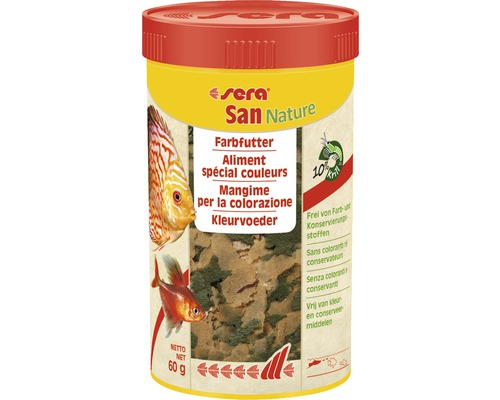 Farbfutter sera San Nature 250 ml
