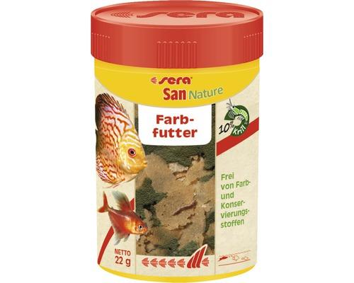 Farbfutter sera San Nature 100 ml