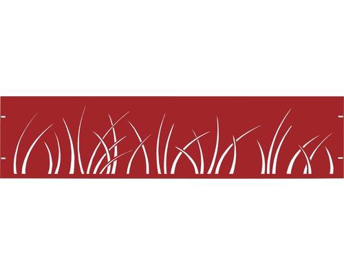 Clôture de jardinet GABIO Spring 180x45cm rouge rubis