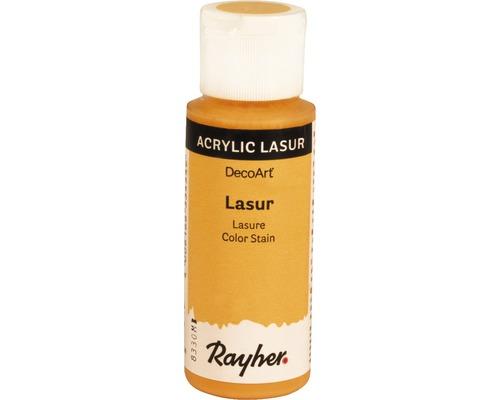 Lasure acrylique, effet, 59ml, jaune clair