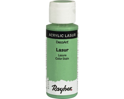 Lasure acrylique, effet, 59ml, vert menthe