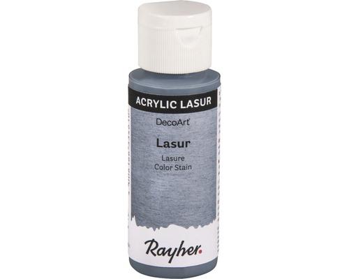 Lasure acrylique, effet, 59ml, bleu gris