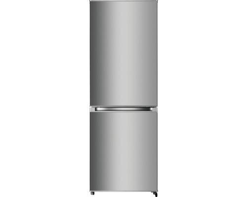 Réfrigérateur-congélateur PKM KG 225.4A+++IX lxhxp 55.4 x 161.3 x 55.8 cm compartiment de réfrigération 159 l compartiment de congélation 71 l