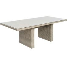 Gartenmöbelset Garden Place Dining 6-Sitzer 7 tlg. inkl. Tisch 200 x 100 x 76 cm mit 5mm Glasplatte, 6 Sesseln davon 2 verstellbar und Sitzkissen Polyrattan braun anthrazit-thumb-8
