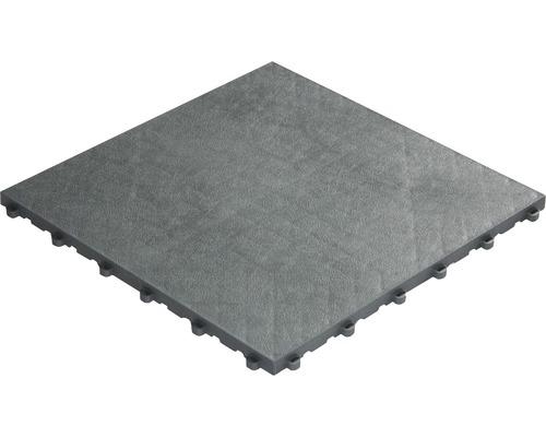 Dalle à clipser en plastique florco floor, 40 x 40 cm, gris