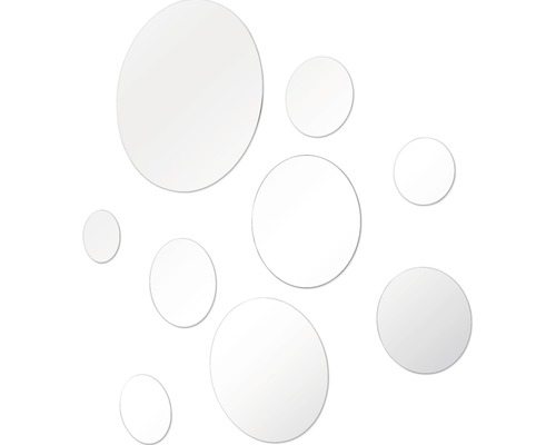 Spiegelsticker 9-teilig selbstklebend