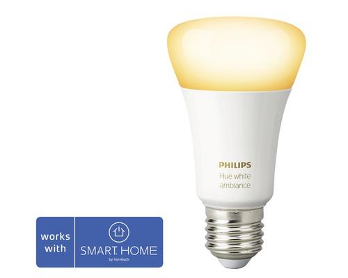 Ampoule LED Philips hue White Ambiance à intensité lumineuse variable blanc E27 8,5W 806 lm 2200K-6500 K - compatible avec SMART HOME by HORNBACH